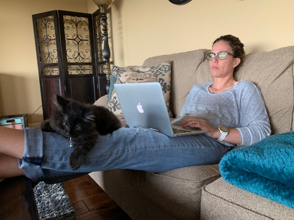 Writing with the cat